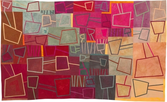 6 Abstract Textile Artists - Textileartist within Abstract Textile Wall Art