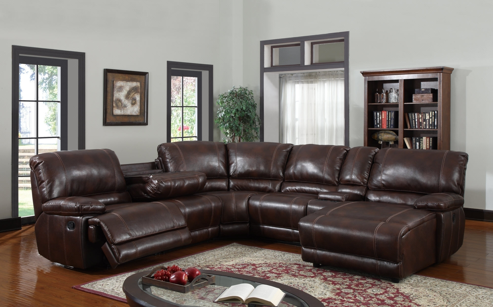 6 Piece Sectional Sofa Leather • Sectional Sofa in 6 Piece Leather Sectional Sofas
