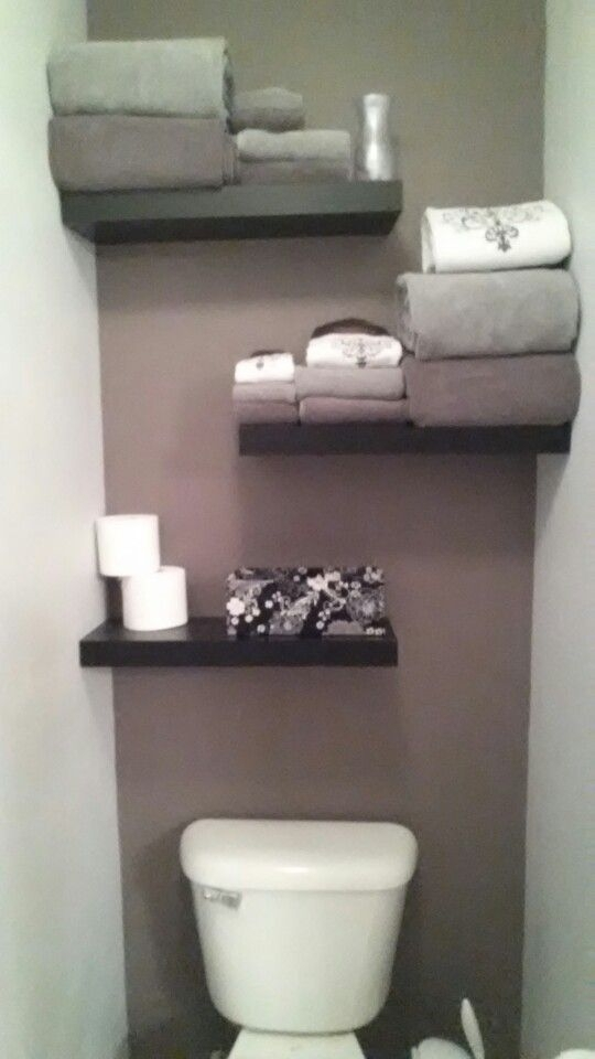 61 Best Over The Toilet Shelves Images On Pinterest | Bathroom In Wall Accents Behind Toilet (Image 4 of 15)