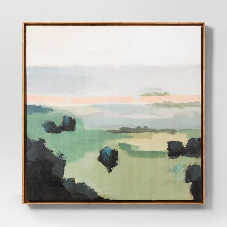 62 Pastel Landscape Abstract Wall Art Throughout Pastel Abstract Wall Art (Image 2 of 15)