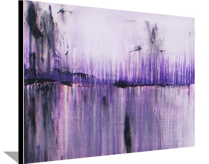 Wall Art Ideas: Purple and Grey Abstract Wall Art (Explore #7 of 15 ...