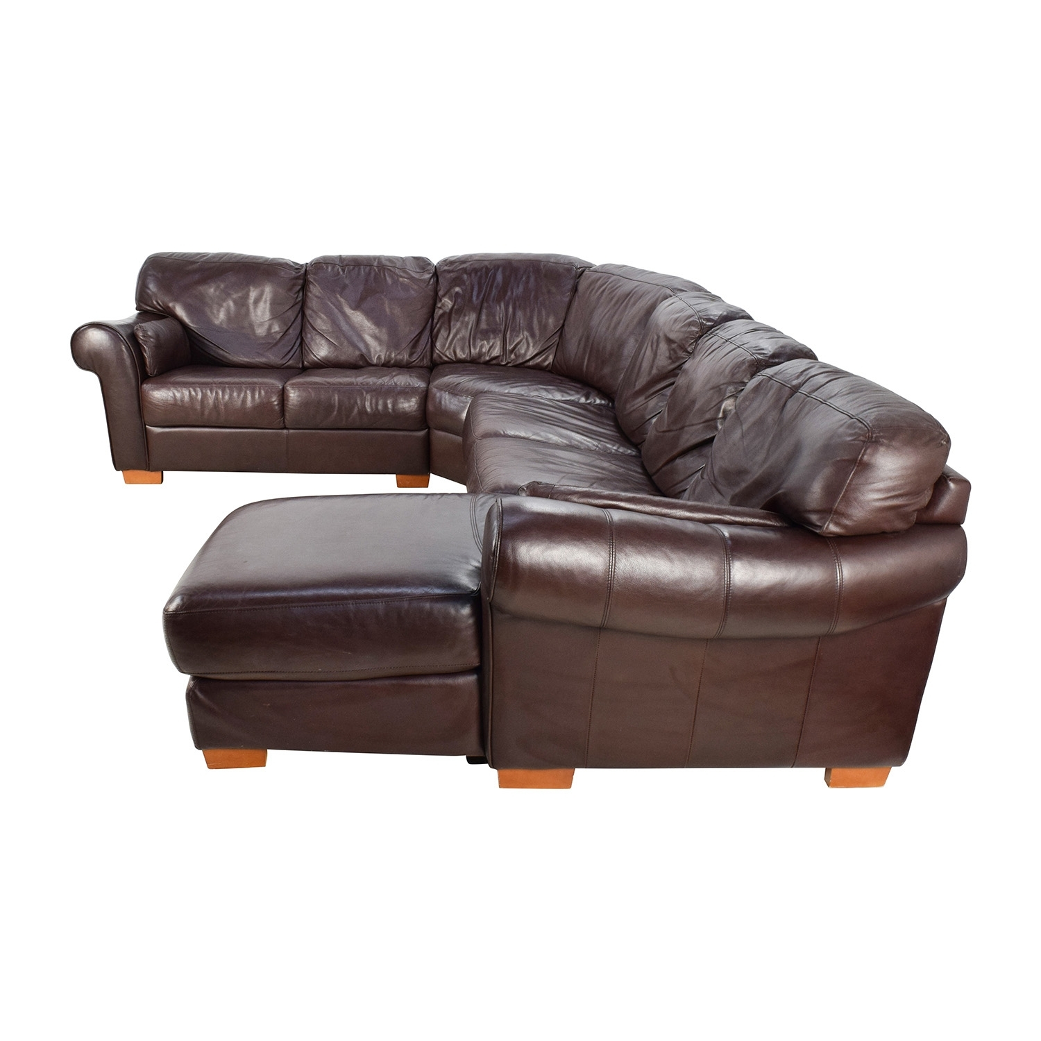 63% Off – Raymour & Flanigan Raymour & Flanigan 4 Piece Leather With Raymour And Flanigan Sectional Sofas (Photo 5 of 10)