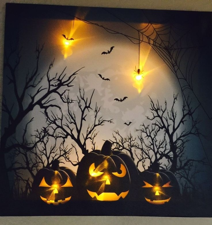 64 Best Led Canvas Wall Art Images On Pinterest | Canvas Art with Halloween Led Canvas Wall Art