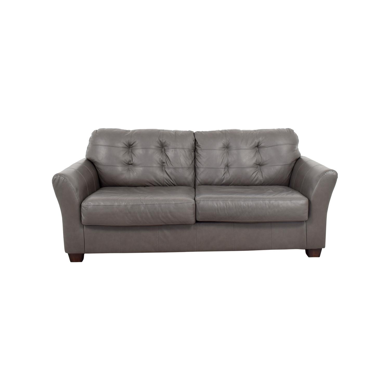 66% Off – Ashley Furniture Ashley Furniture Gray Tufted Sofa / Sofas For Ashley Tufted Sofas (Image 1 of 10)