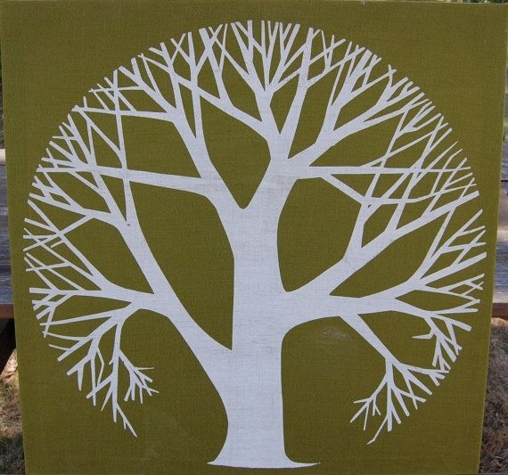 67 Best Tree Art Ideas Images On Pinterest | Screen Printing With Fabric Circle Wall Art (View 13 of 15)