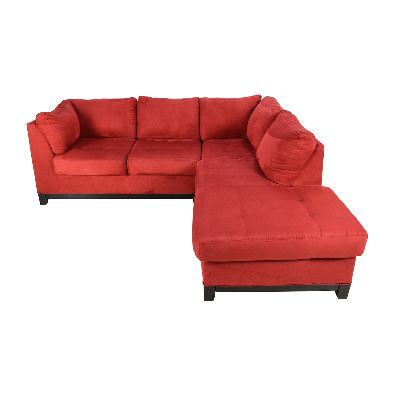 67% Off - Raymour And Flanigan Raymour & Flanigan Zella Red in Sectional Sofas At Raymour And Flanigan