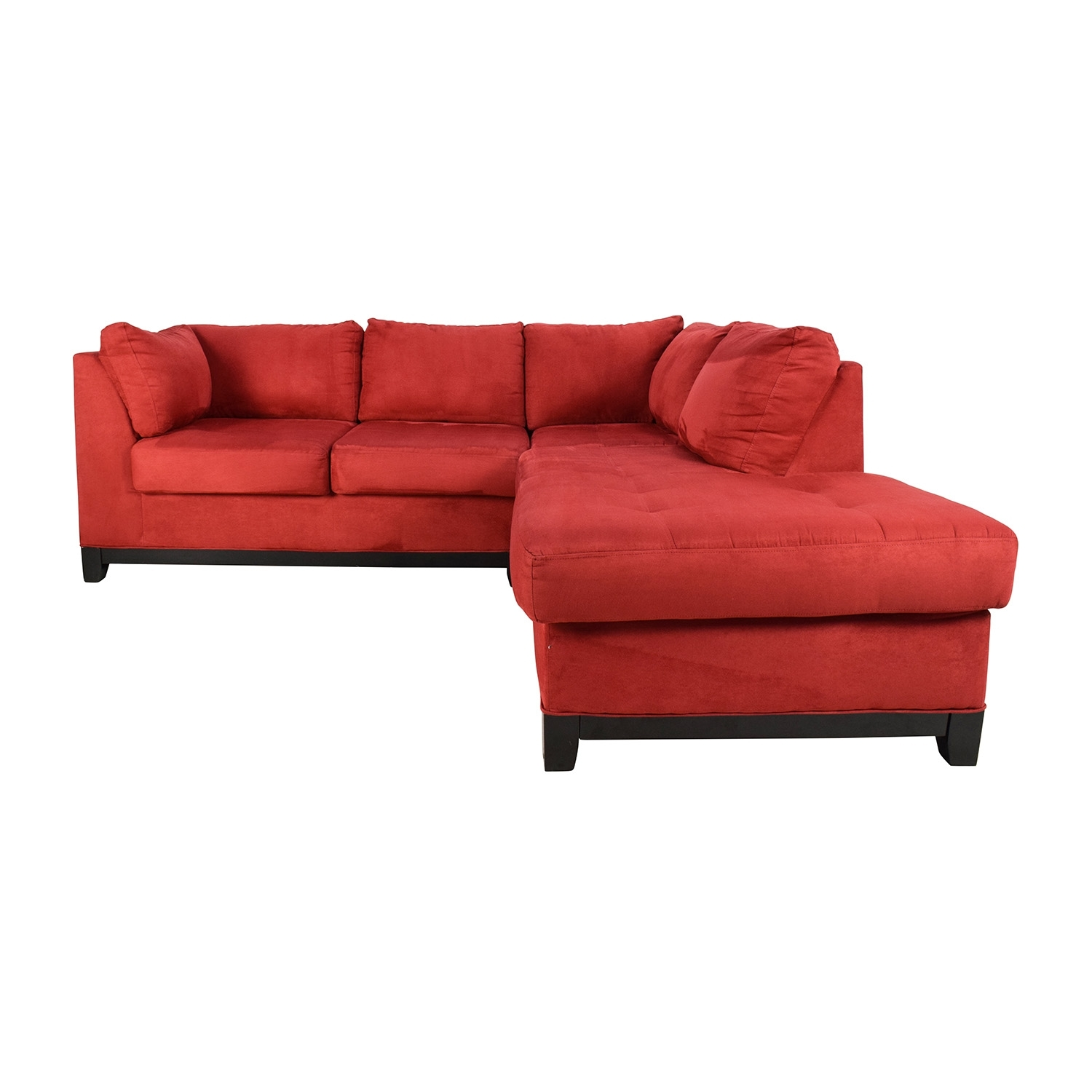 67% Off – Raymour And Flanigan Raymour & Flanigan Zella Red Intended For Raymour And Flanigan Sectional Sofas (Photo 3 of 10)