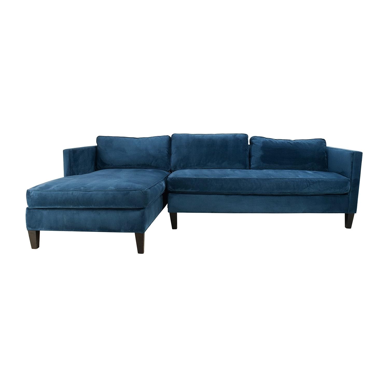 67% Off - West Elm West Elm Dunham Sectional Sofa / Sofas pertaining to West Elm Sectional Sofas