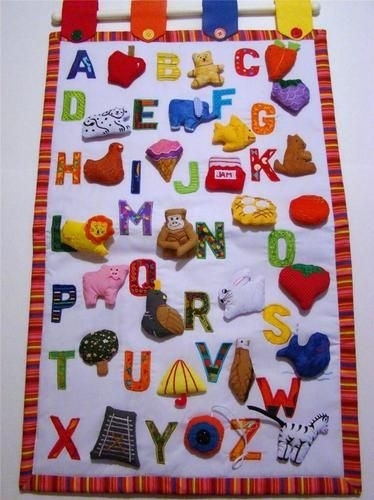 7 Best Fabric Charts Images On Pinterest | Calendar, Charts And with Childrens Fabric Wall Art
