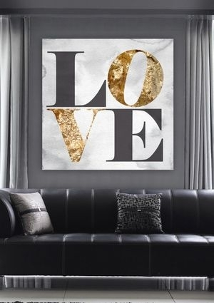 71 Best Gold Images On Pinterest | Oliver Gal Art, Canvas Art And inside Love Canvas Wall Art