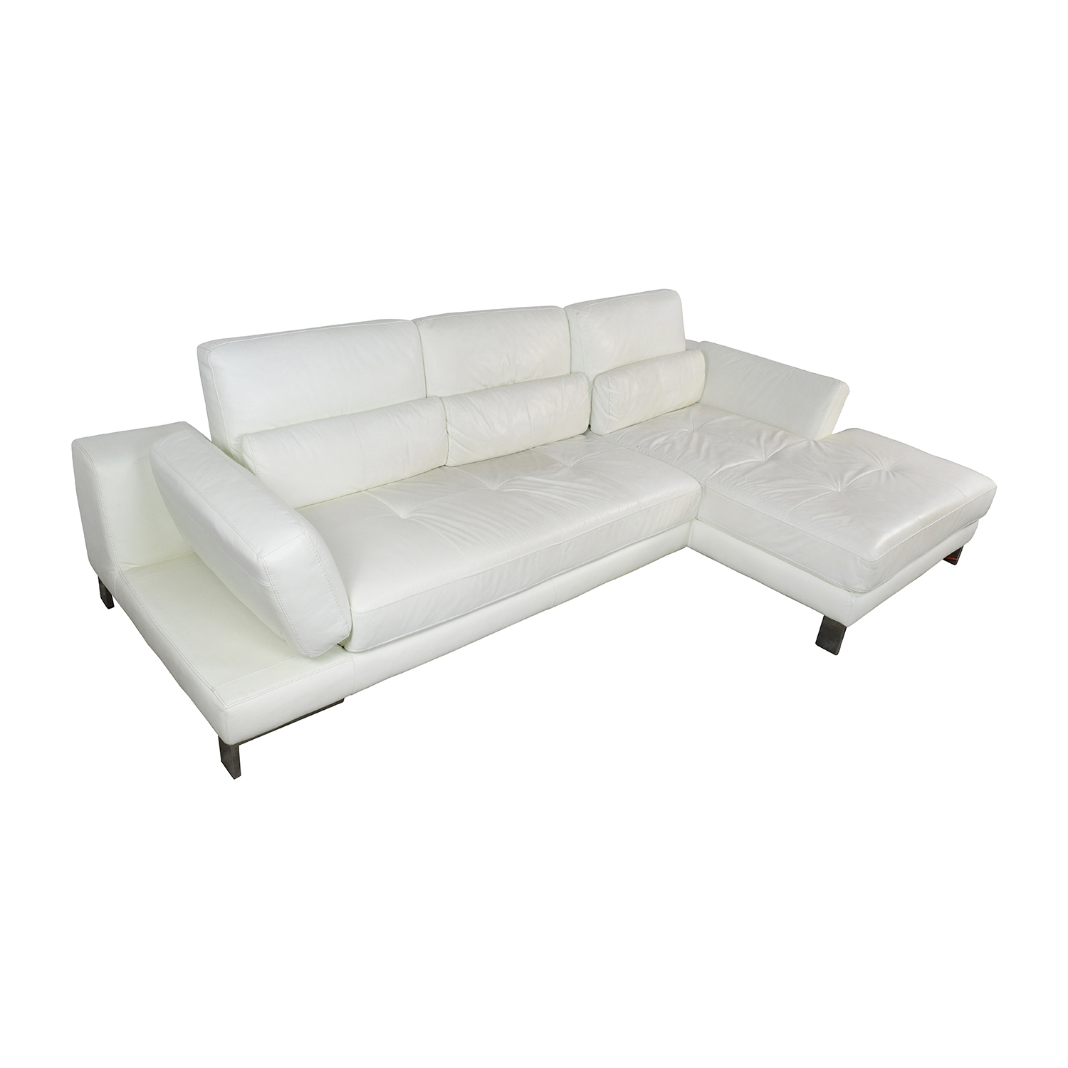 72% Off - Mobilia Canada Mobilia Canada Funktion White Leather with regard to Mobilia Sectional Sofas