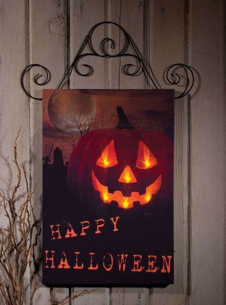 75 Best Lighted Canvas Images On Pinterest | Light Up Canvas with regard to Halloween Led Canvas Wall Art