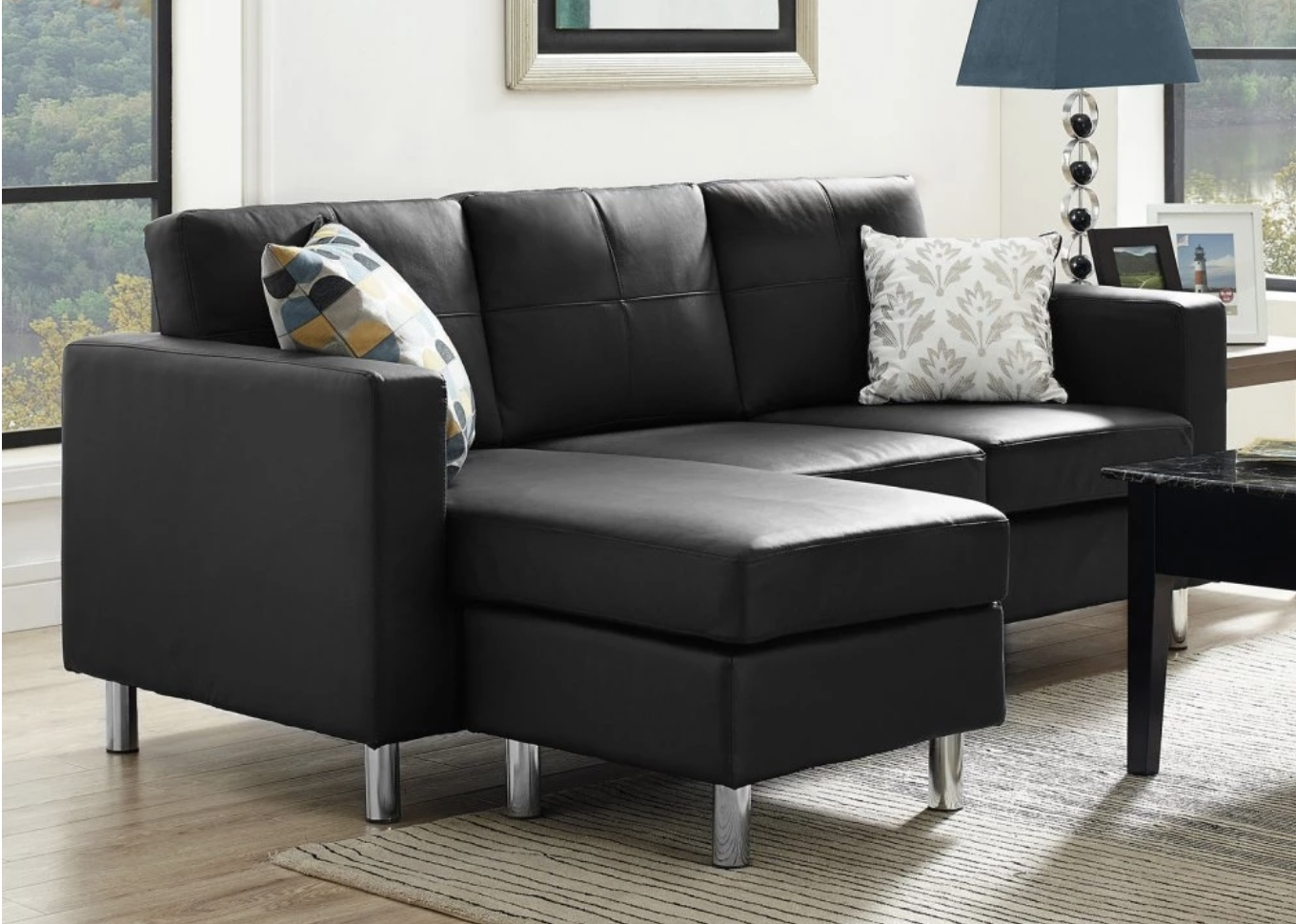 75 Modern Sectional Sofas For Small Spaces (2018) intended for 100X100 Sectional Sofas