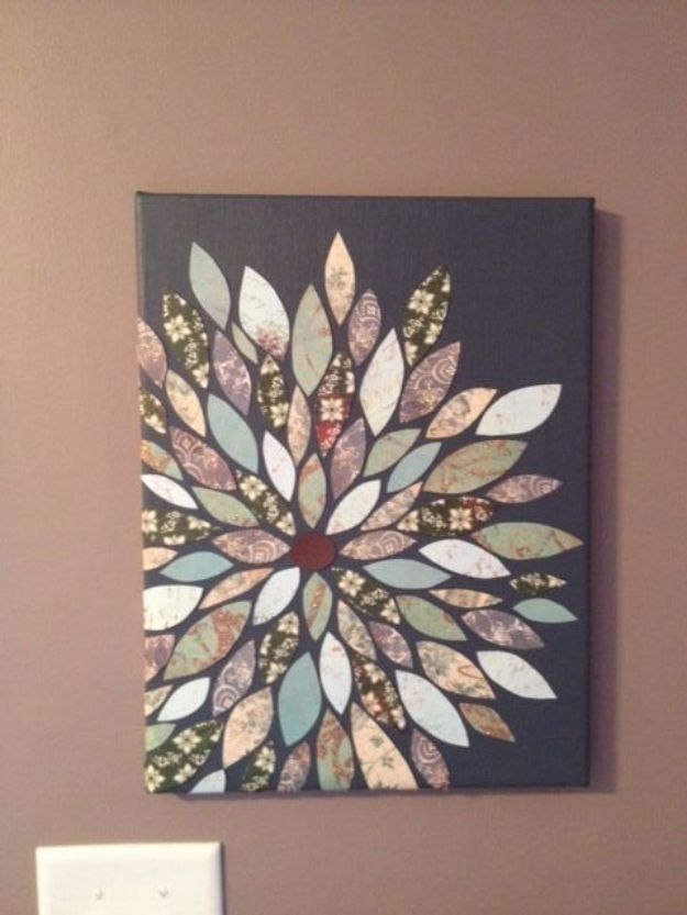 76 Brilliant Diy Wall Art Ideas For Your Blank Walls | Hanging For Diy Fabric Flower Wall Art (View 14 of 15)