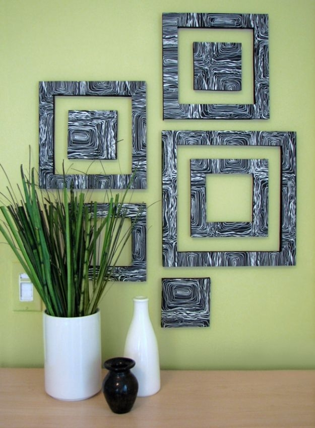76 Brilliant Diy Wall Art Ideas For Your Blank Walls - Page 2 Of throughout Fabric Covered Squares Wall Art
