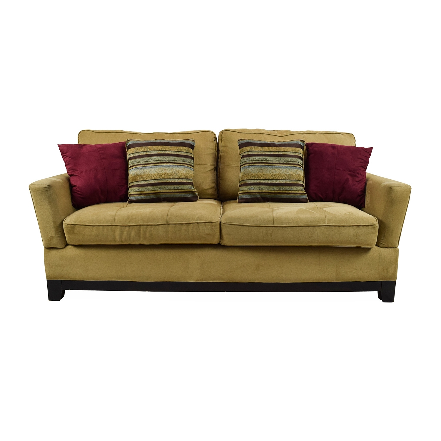 78% Off – Jennifer Convertibles Jennifer Convertibles Tan Sofa / Sofas Within Jennifer Convertibles Sectional Sofas (View 6 of 10)