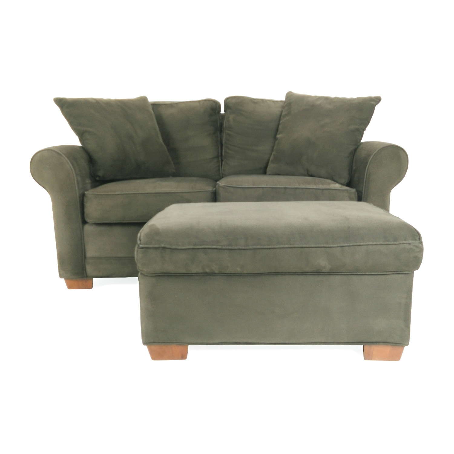 78% Off - Raymour And Flanigan Raymour And Flanigan Love Seat And intended for Loveseats With Ottoman