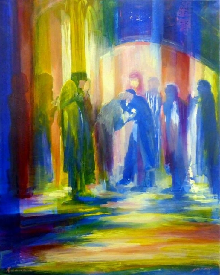 79 Best Israeli Artist Yoram Raanan Images On Pinterest | Jewish Throughout Jewish Canvas Wall Art (View 7 of 15)