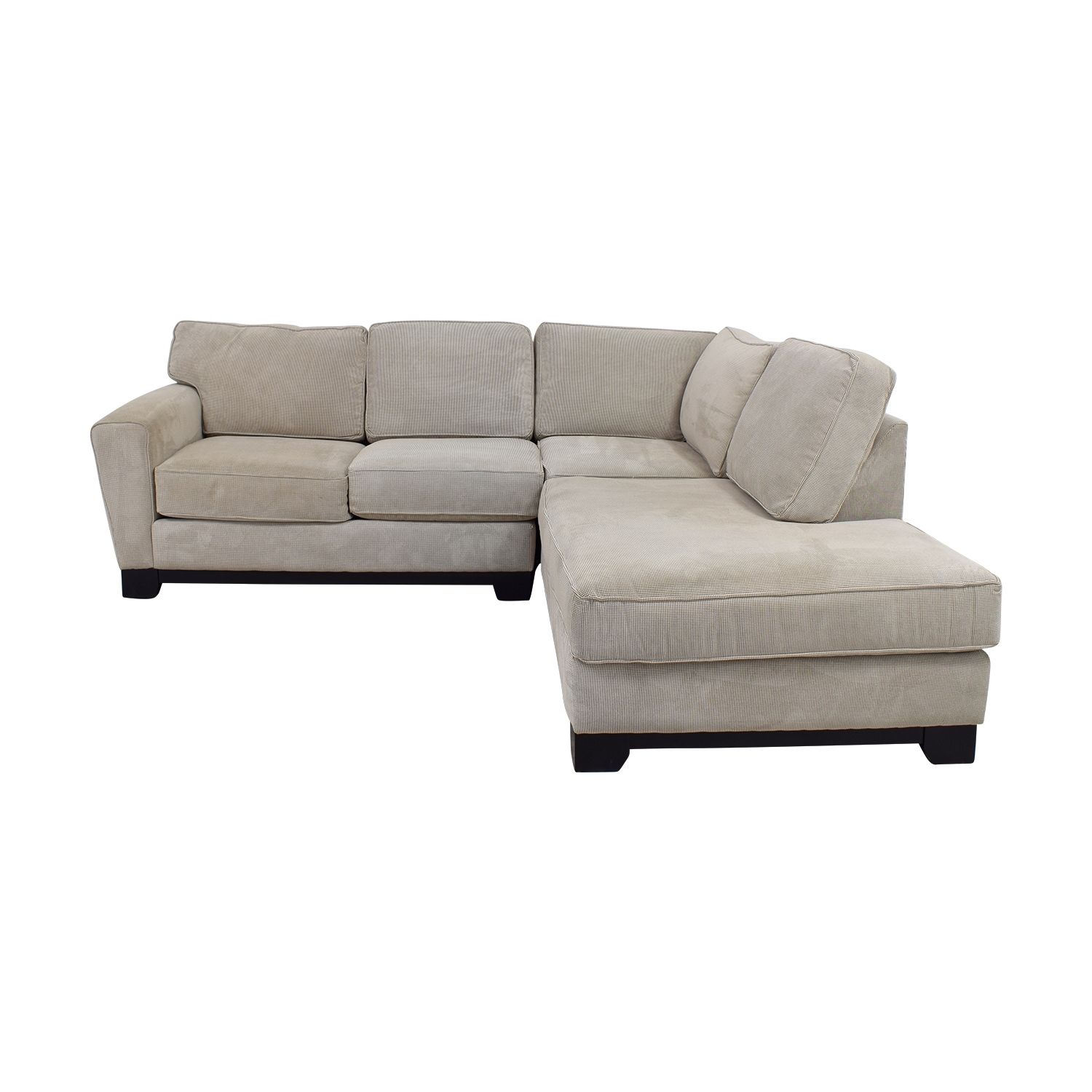 84% Off - Jordan's Furniture Jordan's Furniture Beige L-Shaped in Jordans Sectional Sofas