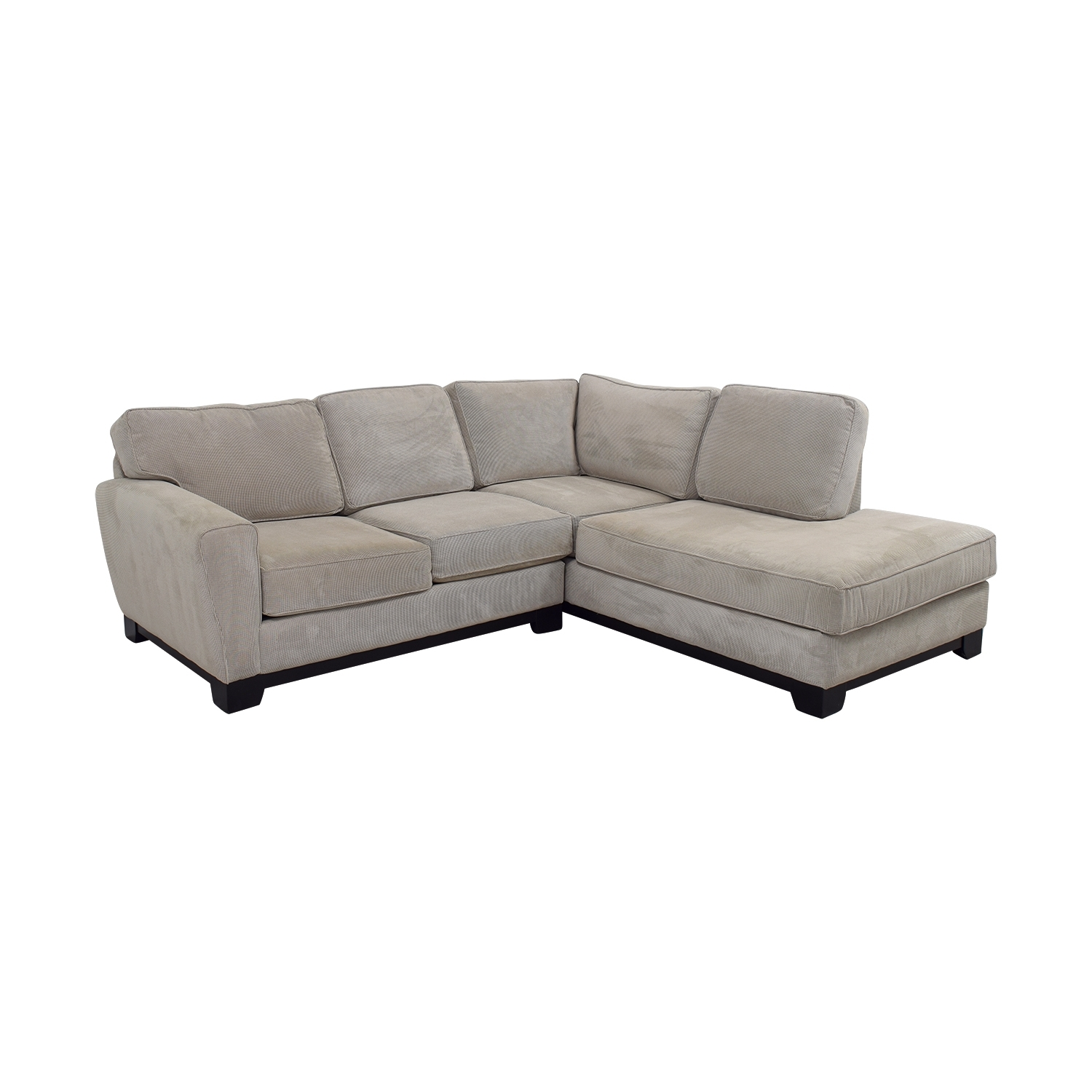 84% Off – Jordan's Furniture Jordan's Furniture Beige L Shaped Inside Jordans Sectional Sofas (View 3 of 10)