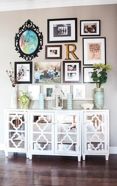 85 Creative Gallery Wall Ideas And Photos For 2018 | Shutterfly Regarding Frames Wall Accents (View 8 of 15)