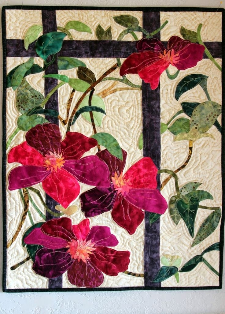 854 Best Quilts – Art Quilts Images On Pinterest | Applique Quilts Throughout Fabric Applique Wall Art (Image 5 of 15)