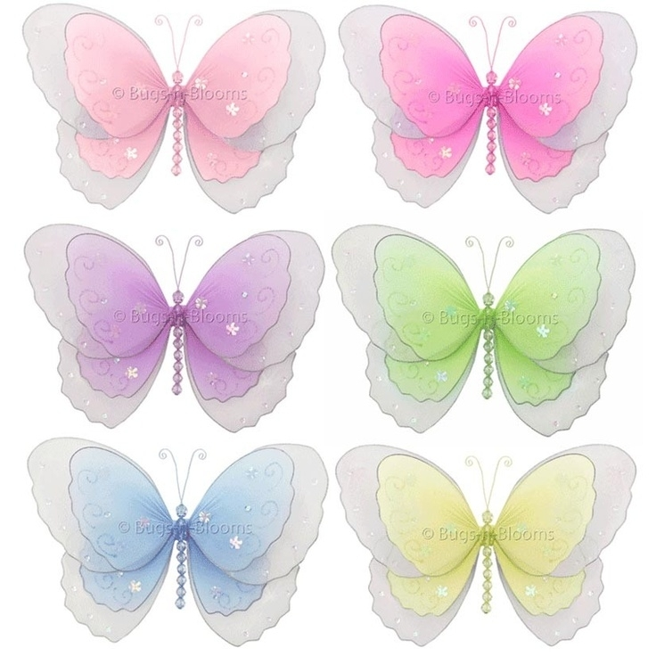 86 Best Butterfly Decorations Images On Pinterest | Butterfly regarding Fabric Butterfly Wall Art