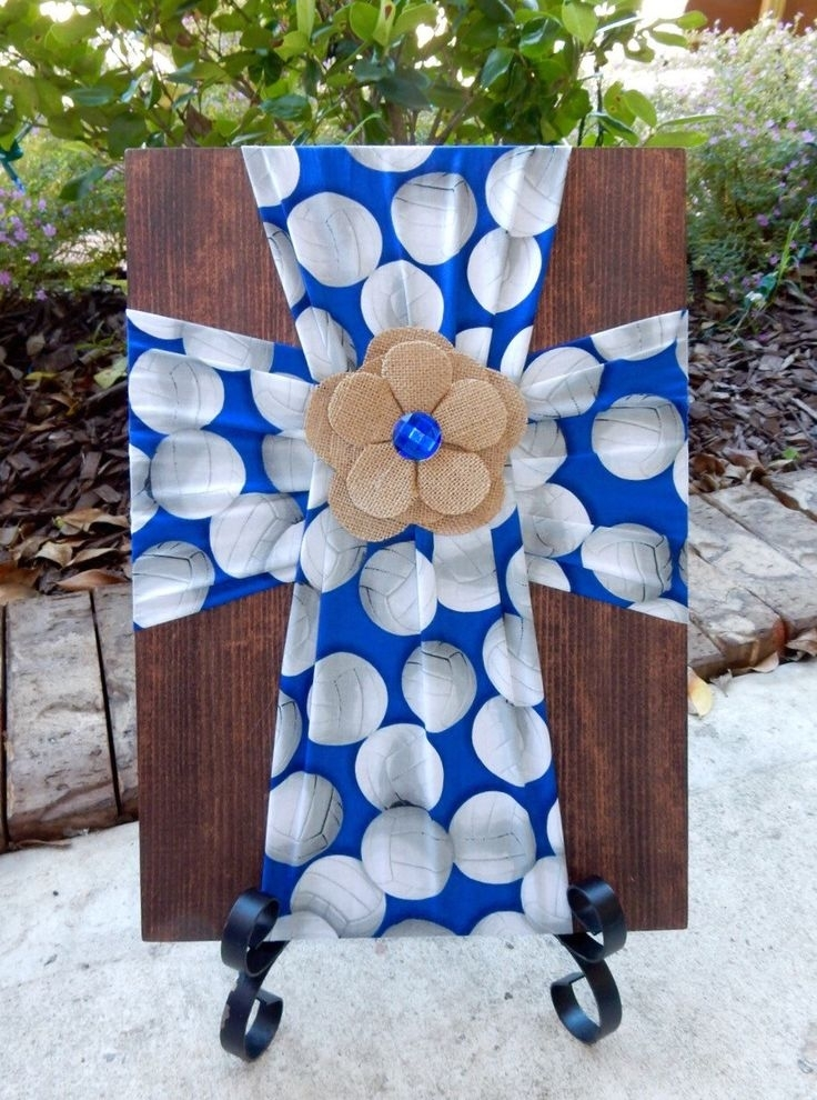87 Best Burlap/fabric Crosses On Wood Images On Pinterest | Burlap For Diy Fabric Cross Wall Art (Image 3 of 15)