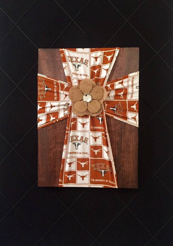 87 Best Burlap/fabric Crosses On Wood Images On Pinterest | Burlap With Regard To Burlap Fabric Wall Art (Image 2 of 15)