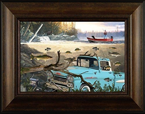 88 Best Northwoods Fishing Framed Art Images On Pinterest Throughout Bass Framed Art Prints (View 10 of 15)