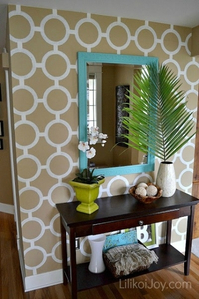 9 Diy Accent Walls For $30 Or Less With Regard To Wall Accents Without Paint (Image 3 of 15)