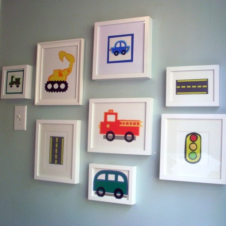 91 Best Cars Images On Pinterest | Child Room, For Kids And Throughout Cars Theme Canvas Wall Art (Photo 14 of 16)