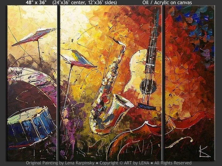 92 Best Inspiration In Art Images On Pinterest | Canvases Intended For Jazz Canvas Wall Art (View 3 of 15)