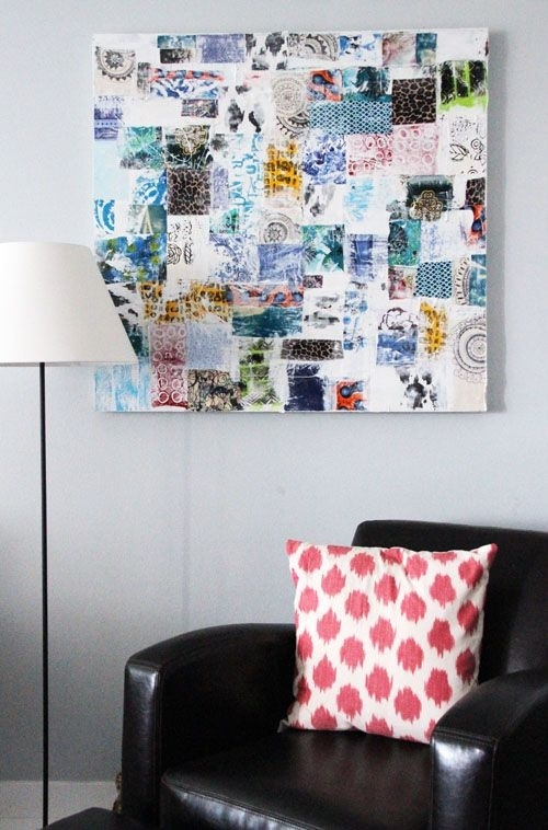 93 Best Art Canvas Inspiration Images On Pinterest | Mixed Media throughout Fabric Scrap Wall Art