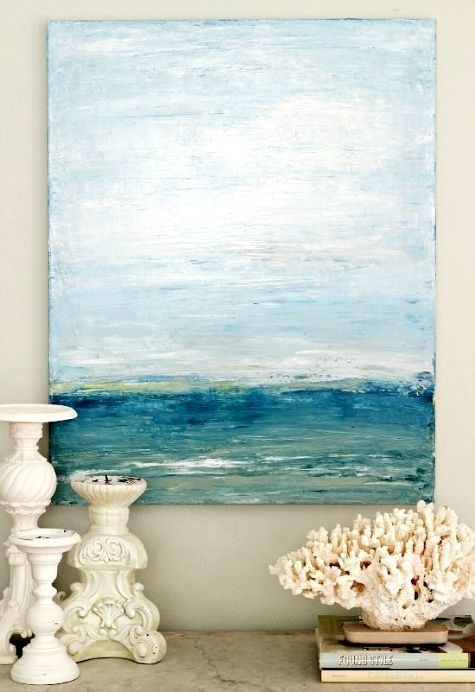 99 Best Abstract Water Paintings Images On Pinterest | Canvases Regarding Abstract Ocean Wall Art (View 11 of 15)