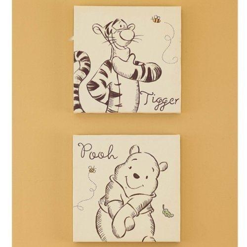 A Bear Named Pooh Canvas Wall Art 2 Piecekids Line. $6. (Image 2 of 15)