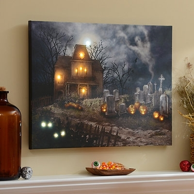 A Haunting Led Canvas Art Print | Holiday Ideas | Pinterest With Halloween Led Canvas Wall Art (View 8 of 15)