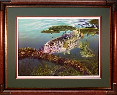 "A Pig, A Hawg And A Log"" – Largemouth Bass Artrandy Mcgovern With Regard To Bass Framed Art Prints (Image 8 of 15)"