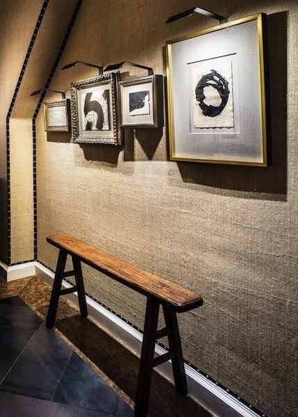 A Rustic Wall Covering Made From Burlap | Care2 Healthy Living With Burlap Fabric Wall Art (Image 3 of 15)