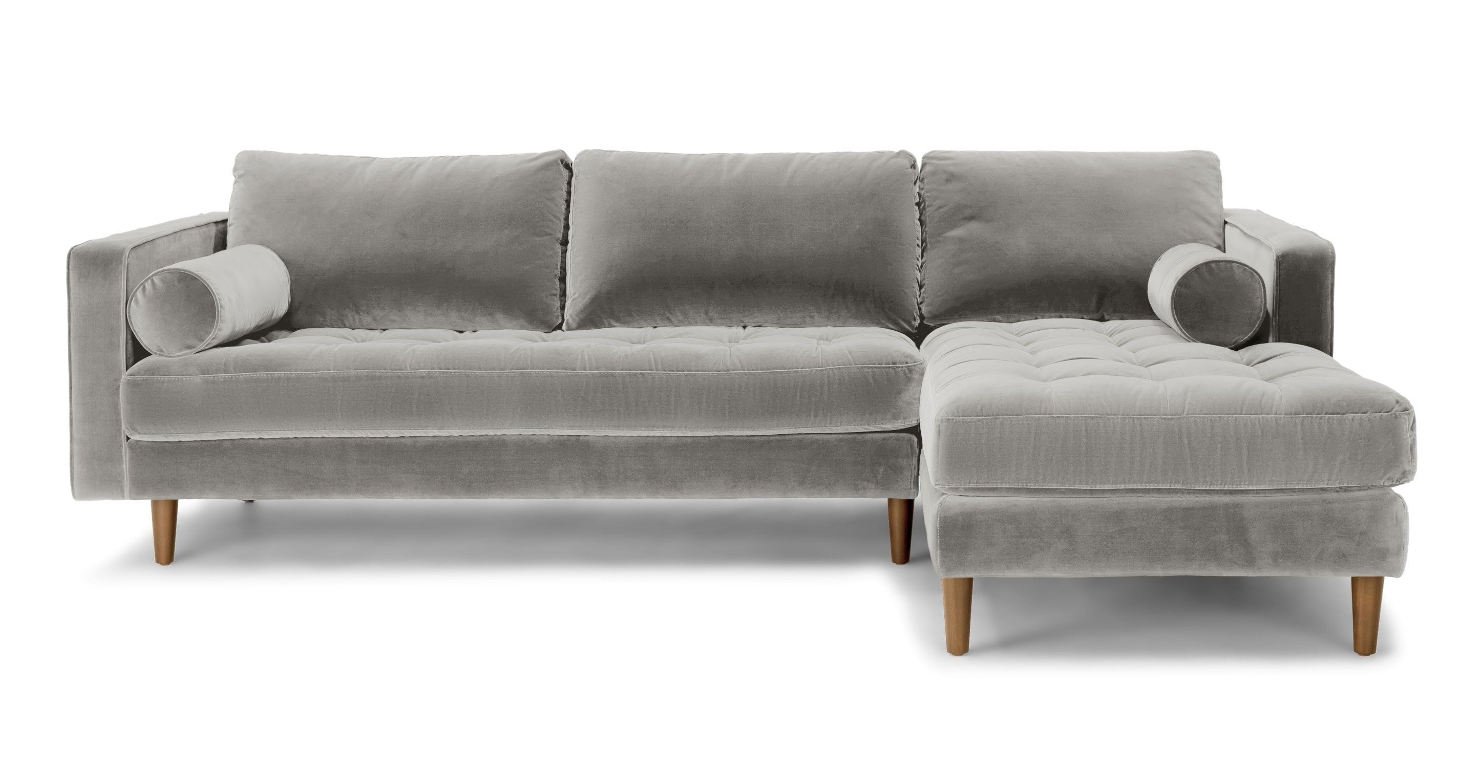Abbieht Chaise Sectional Sofa With Large Cushionsengland Ivy In Regina Sectional Sofas (View 6 of 10)