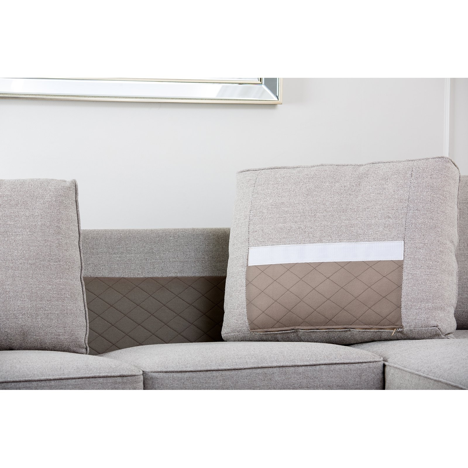Abbyson Regina Sectional Sofa – Gray | Hayneedle Pertaining To Regina Sectional Sofas (View 10 of 10)