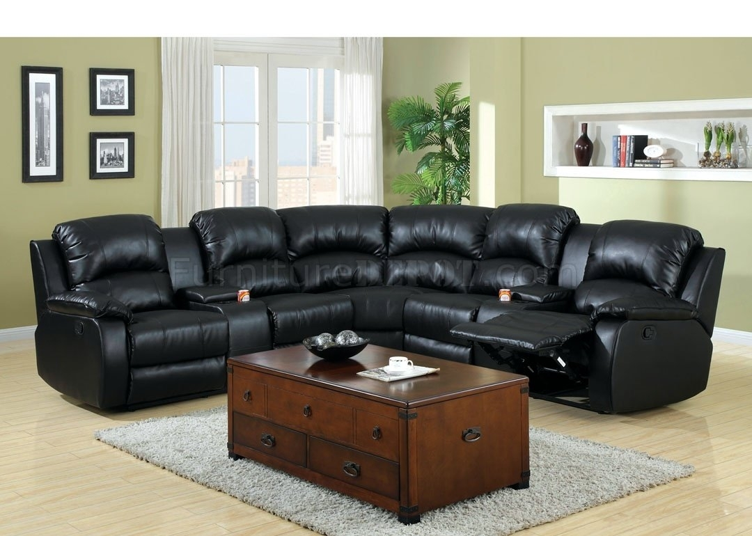 Aberdeen Motion Sectional Sofa Cm6557Bp Bonded Leather Match Inside Leather Motion Sectional Sofas (Image 1 of 10)