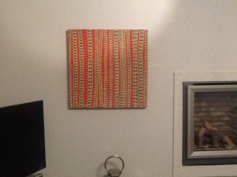 "Aboriginal Canvas Paintingkitti Narod Called ""vine&quot In Gumtree Canvas Wall Art (Image 1 of 15)"