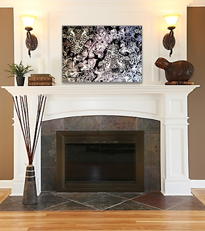 15 choices of wall accents over fireplace wall art ideas - Over the fireplace decor ...