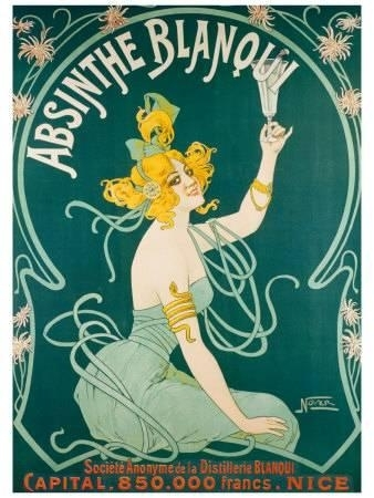 Absinthe (Vintage Art) Posters At Allposters In Framed Art Deco Prints (Image 10 of 15)