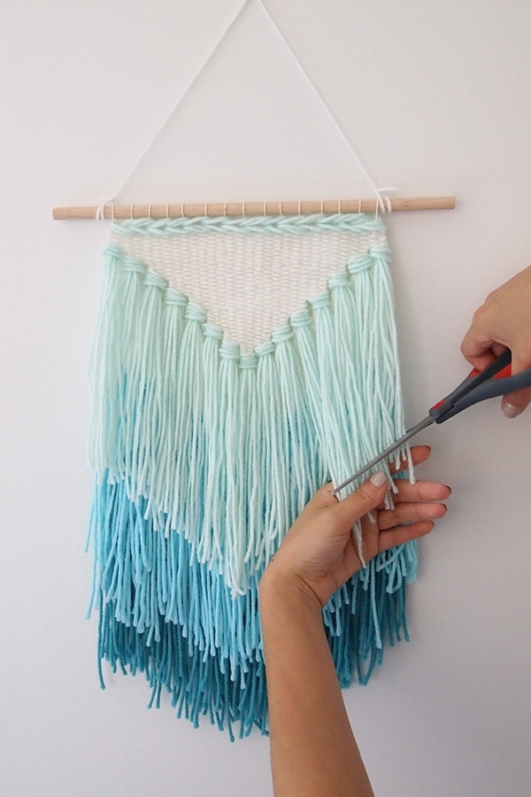 Absolutely Smart Wall Hangings With Diy Weaving How To Make A Intended For Diy Textile Wall Art (Image 5 of 15)