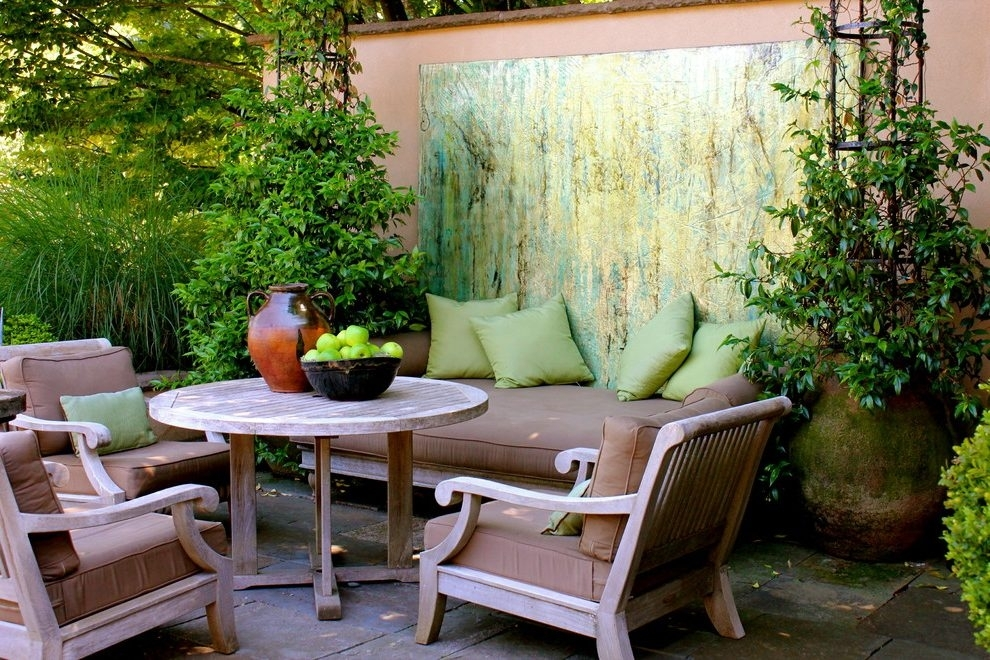 Abstract Art Design Ideas Patio Traditional With Outdoor Living With Regard To Abstract Garden Wall Art (View 11 of 15)