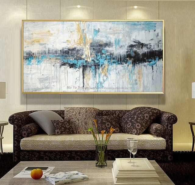 Abstract Art Painting Modern Wall Art Canvas Pictures Large Wall Pertaining  To Abstract Living Room Wall