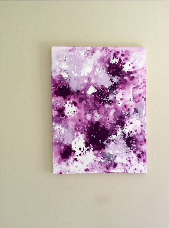 Abstract Flow Art Fluid Painting Purple Lilac Art Original Acrylic Intended For Abstract Neon Wall Art (Image 10 of 15)