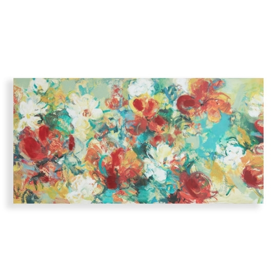 Abstract Garden Wall Art Social Canvas World Market Contemporary With Regard To Abstract Garden Wall Art (View 5 of 15)